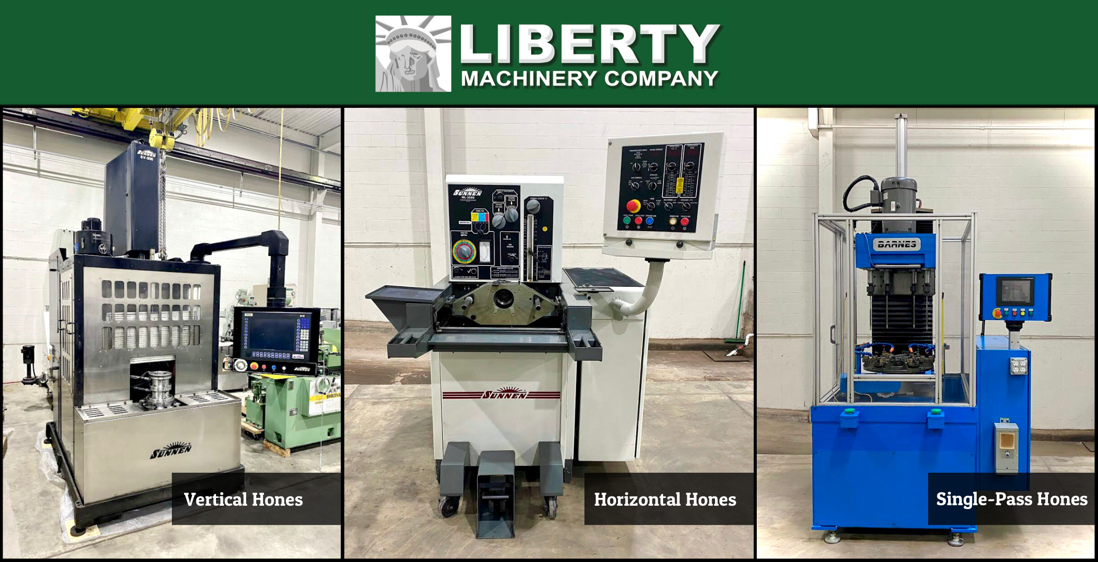 Honing Machines Available Vertical Horizontal and Single-Pass